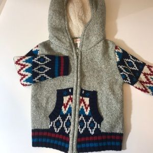 Boys colorful sweater jacket NWT